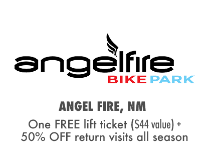 One FREE Day at Angel Fire Bike Park + 50% OFF additional visits!