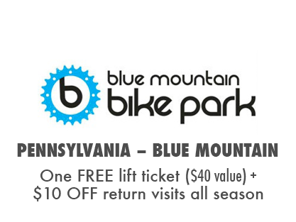 Get a Free Lift Ticket, Plus $10 OFF return visits at Blue Mountain Bike Park, PA