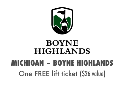 2017 MTBparks Pass members receive one free Boyne Highlands lift ticket!