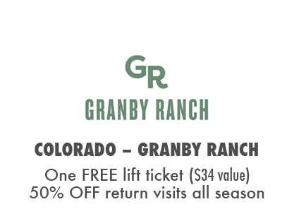 One FREE Day at Granby Ranch Bike Park + 50% OFF additional visits!