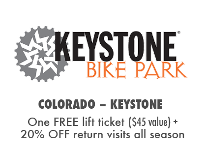 One FREE Day at Keystone Bike Park + 20% OFF additional visits!