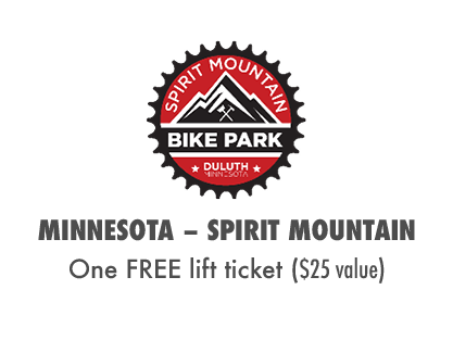 2017 MTBparks Pass members receive one free Spirit Mountain lift ticket!
