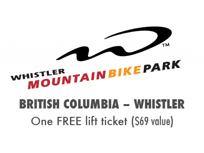 The MTBparks Pass includes one free Whistler Bike Park lift ticket. (Value $69)