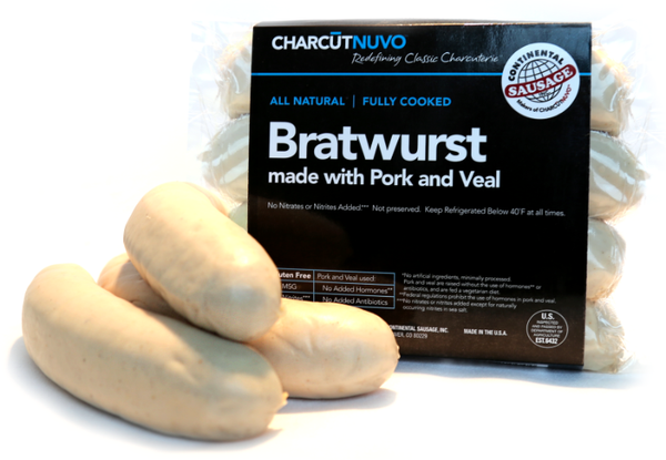 Bratwurst made with Pork and Veal