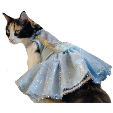 Ice Blue Cat Dress - CatsClothes.com - 1