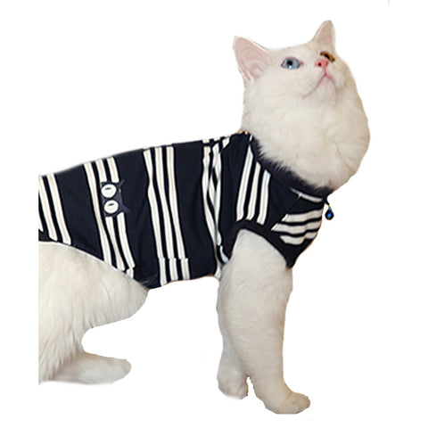 Mies Striped Vest - CatsClothes.com - 1
