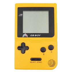 "GB Boy 2.45"" Classic Pocket Yellow Handheld Game Console"