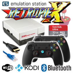 RETROPIE/X 32Gb NES Classic Video Game Emulator + KODI [2x GameSir]