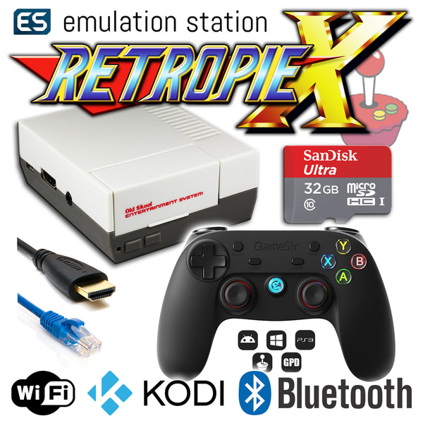 RETROPIE/X 32Gb NES Classic Video Game Emulator + KODI [GameSir]