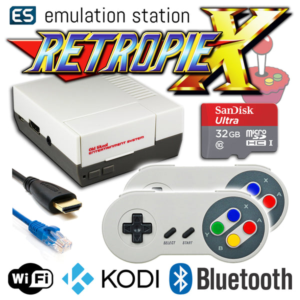 RETROPIE/X 32Gb NES Classic Video Game Emulator + KODI [2x SNES]