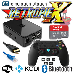 RETROPIE/X 32Gb Video Game Emulator + KODI [Black/GameSir]