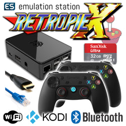 RETROPIE/X 32Gb Video Game Emulator + KODI [Black/2x GameSir]