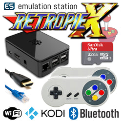 RETROPIE/X 32Gb Video Game Emulator + KODI [Black/2x SNES]