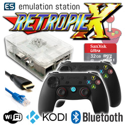 RETROPIE/X 32Gb Video Game Emulator + KODI [Clear/2x GameSir]