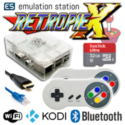 RETROPIE/X 32Gb Video Game Emulator + KODI [Clear/2x SNES]