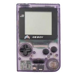 "GB Boy 2.45"" Classic Pocket Clear Purple Handheld Game Console"