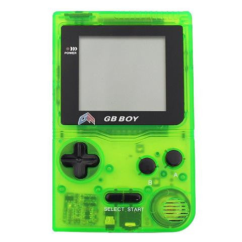 "GB Boy 2.45"" Classic Pocket Clear Green Handheld Game Console"