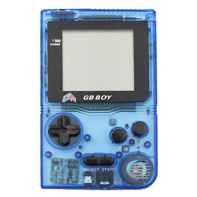 "GB Boy 2.45"" Classic Pocket Clear Blue Handheld Game Console"