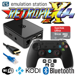 RETROPIE/X 64Gb Video Game Emulator + KODI [Black/GameSir]