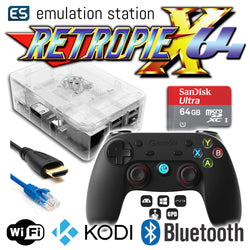 RETROPIE/X 64Gb Video Game Emulator + KODI [Clear/GameSir]