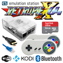 RETROPIE/X 64Gb Video Game Emulator + KODI [Clear/2x SNES]