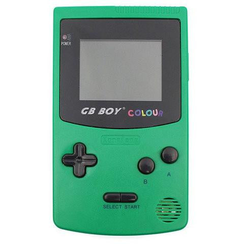 "GB Boy 2.7"" Classic Color Backlit Green Handheld Game Console"
