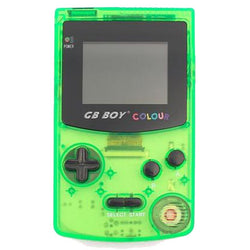 "GB Boy 2.7"" Classic Color Backlit Clear Green Handheld Game Console"