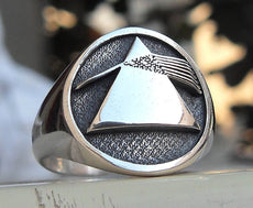 Pink Floyd The dark side of the Moon 3D Ring Sterling Silver 925