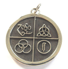 Led Zeppelin Band Four Symbol Silver 925 Pendant