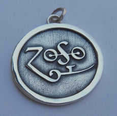 Led Zeppelin Band Zoso Silver 925 Pendant