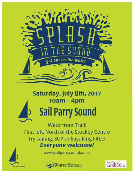 Splash in the Sound at Sail Parry Sound to celebrate Canada's 150th!
