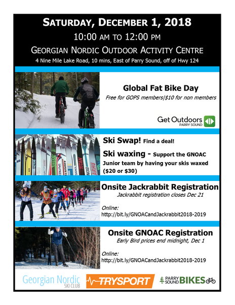 Dec 1 - Lots happening at Georgian Nordic Outdoor Activity Centre