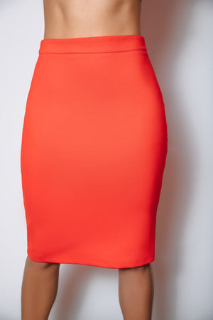 Danielle Ponte Pencil Skirt | Flame