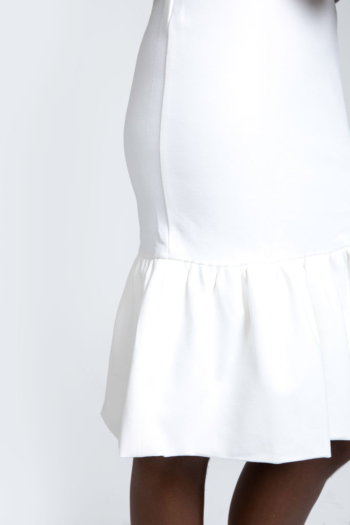 Lena Ponte' Knit Dress |  Off White
