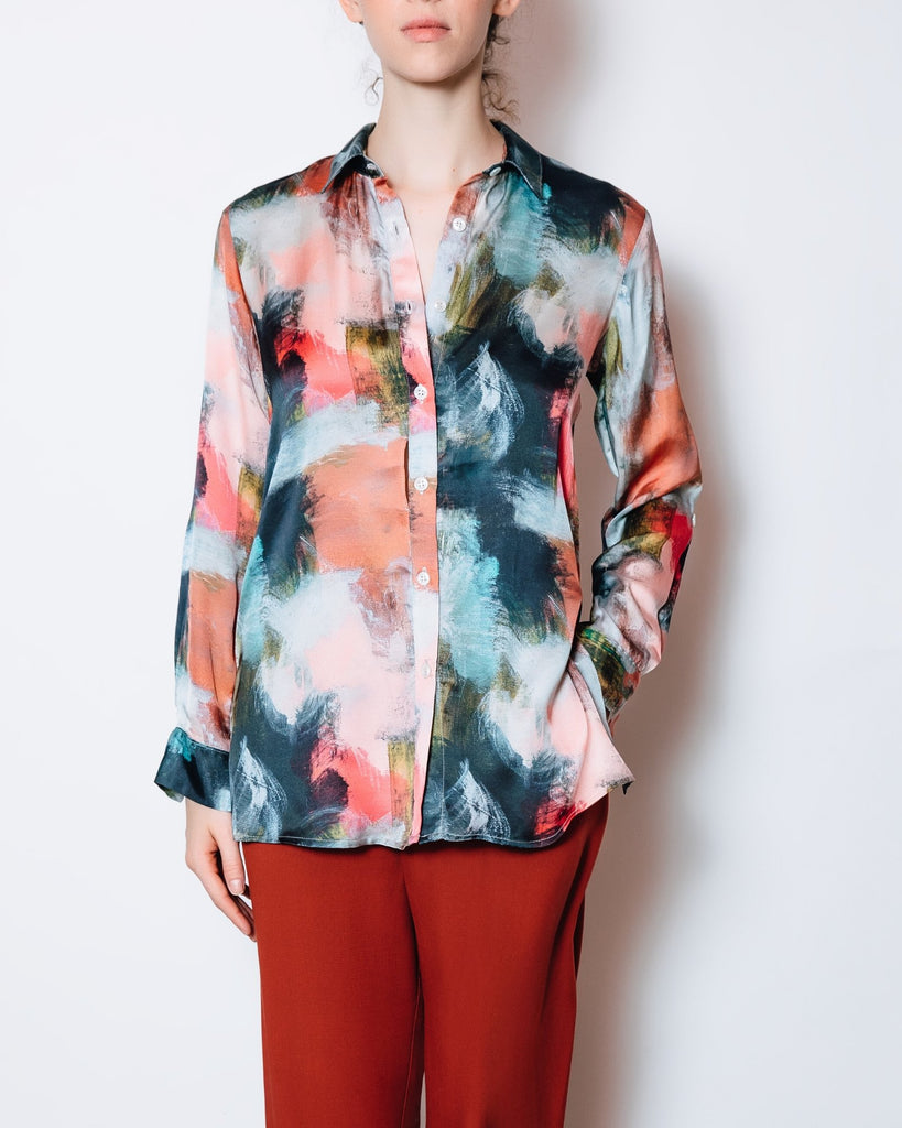 Bettina Button Down Top | Chloe Kristyn x Melissa Payne Baker Abstract Print - Chloe Kristyn