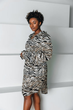 Dahlia Dress | Black Zebra - Chloe Kristyn