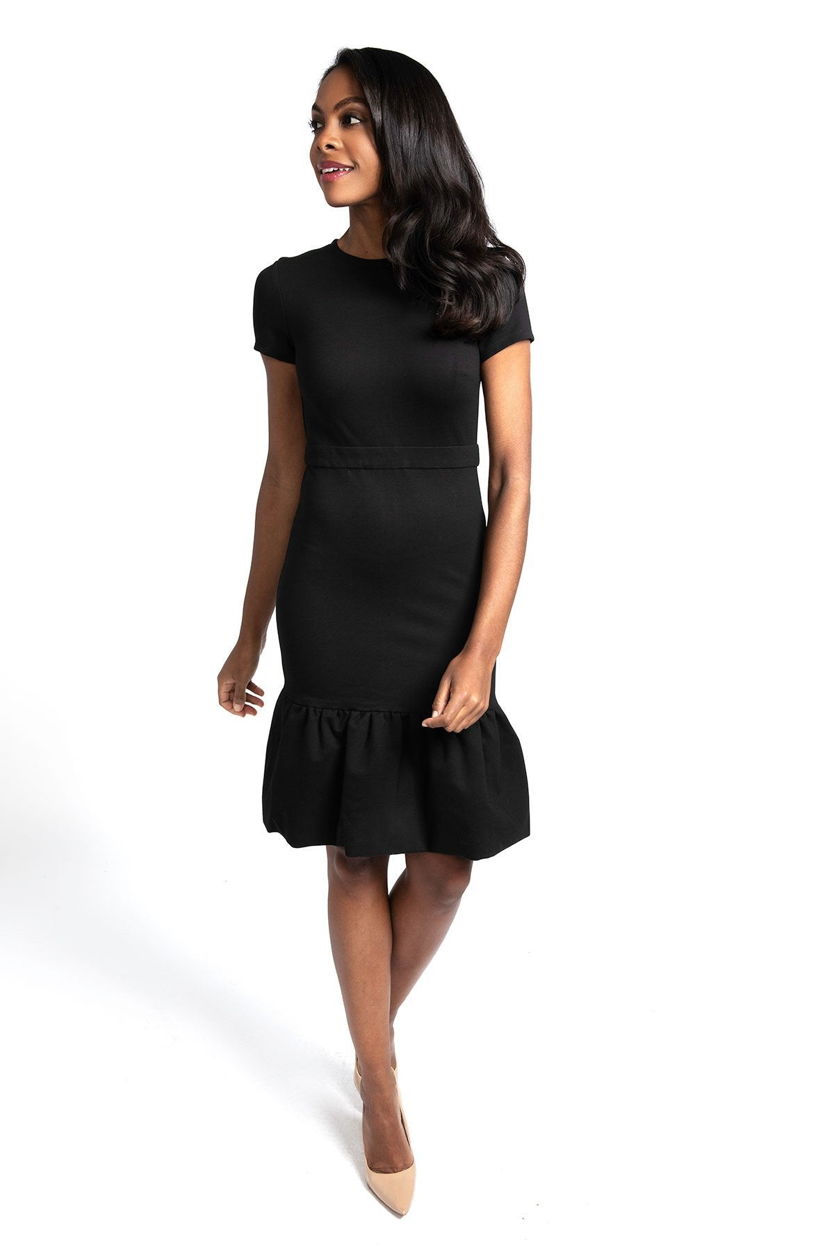 Lena Ponte Knit Dress | Black - Chloe Kristyn