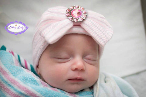 813c9fdf899 Baby girl hospital hat