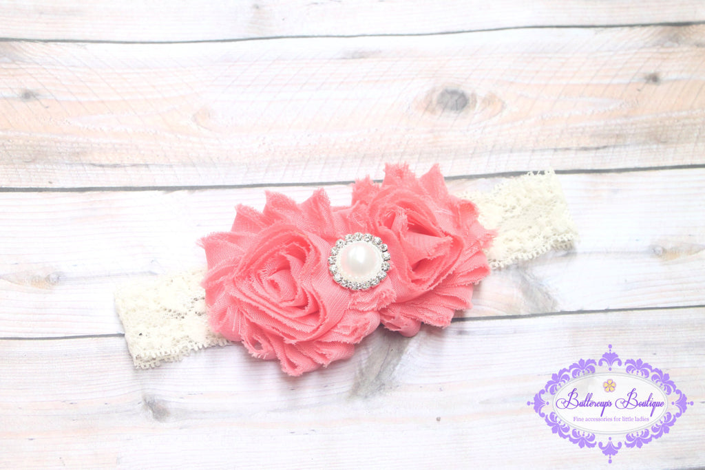 a463d4bf9ebe Coral baby headband