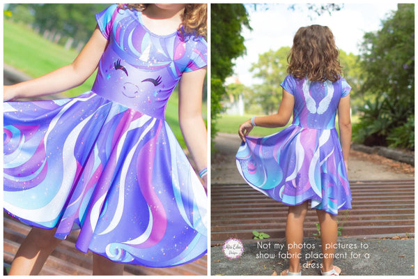 Lavender Unicorn Sparkle Dress