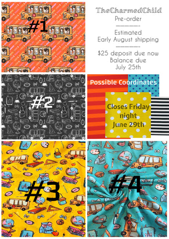 Back to School Fabric PRE-ORDER