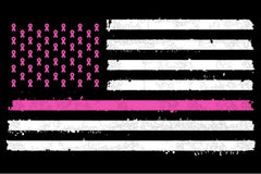 50 Pink Ribbons & Pink Stripe