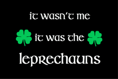 It Wasn't Me It Was The Leprechauns