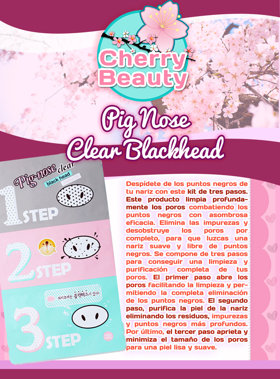 pig nose clear blackhead 3 step kit instructions