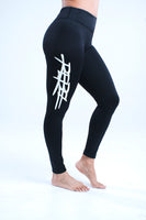 WOMEN'S HIGH-WAISTED REBEL YOGA LEGGINGS - NOIRE
