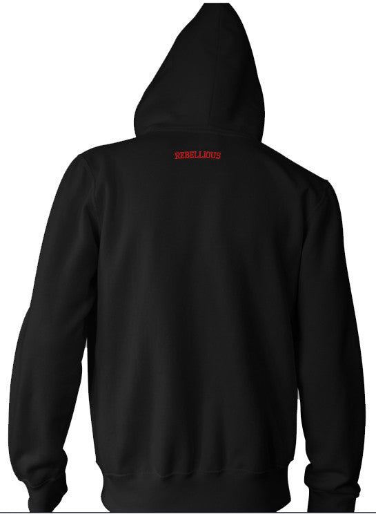 "Rebellious ""R"" Zip-Up Hoodie"