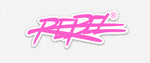 Rebellious Clothing Co. SMALL REBEL DIE-CUT STICKER (PINK)