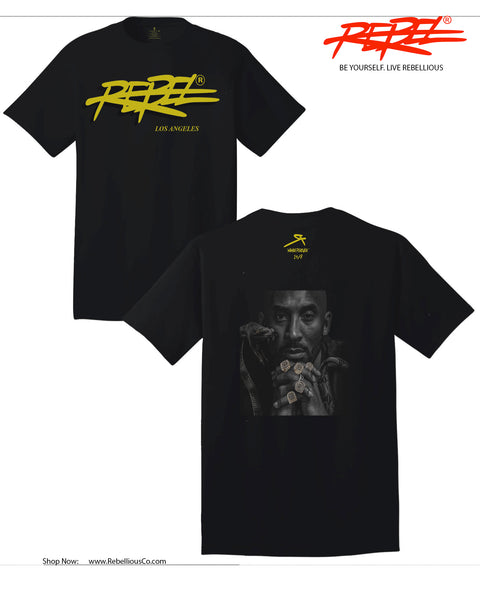 "Rebellious Clothing Co. - MAMBA OUT - KOBE ""BLACK MAMBA"" EDITION: BLACK 