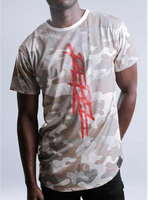 T-MONEY DISTRESSED SHORT SLEEVED