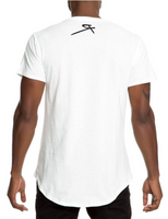 Rebellious Clothing Co. T-MONEY DISTRESSED SHORT SLEEVE - ICY WHITE